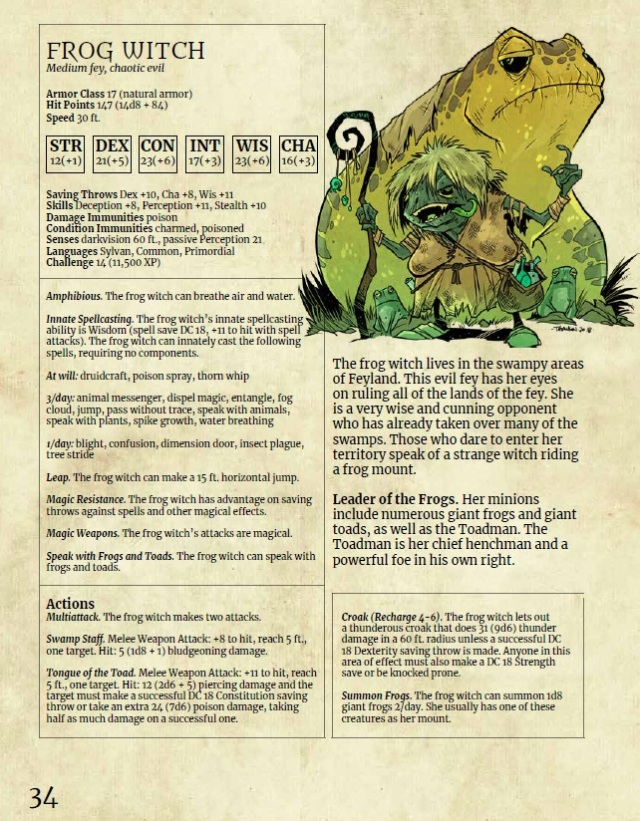The first in our 5E Monster Series is Monsters of Feyland  Now a