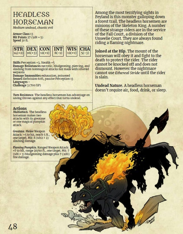 The first in our 5E Monster Series is Monsters of Feyland