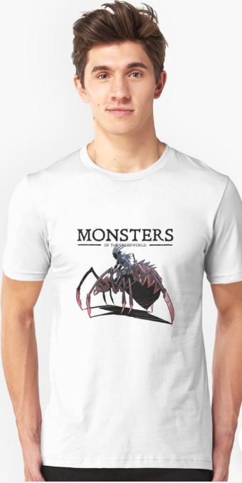 Screenshot_2019-05-21 'Drow Spider Rider from Monsters of the Underworld' T-Shirt by cawoodpublish(1)